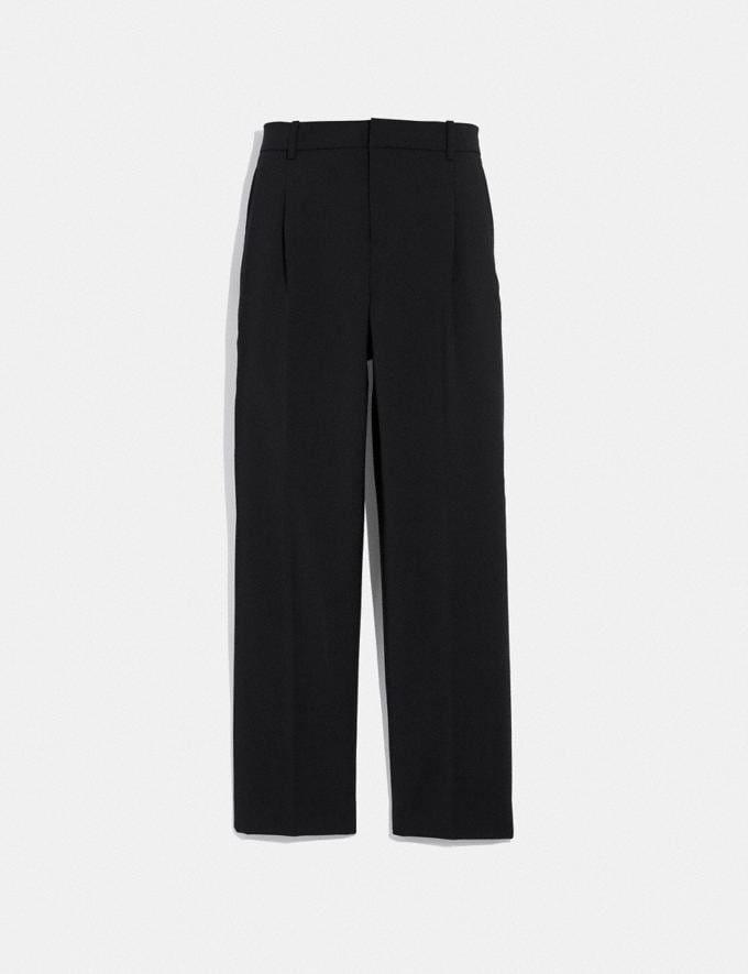 Coach Solid Cropped Tailored Pants Black SALE Women's Sale Ready-to-Wear