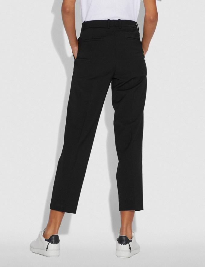 Coach Solid Cropped Tailored Pants Black SALE Women's Sale Ready-to-Wear Alternate View 2