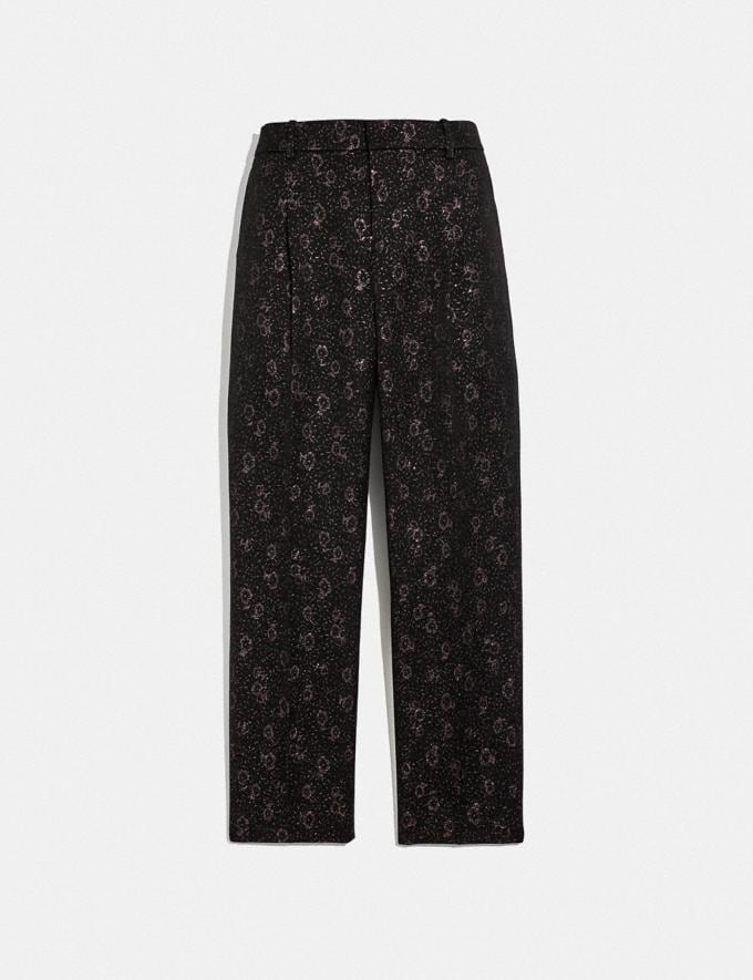 Coach Cropped Tailored Jacquard Pants Pink SALE Women's Sale Ready-to-Wear