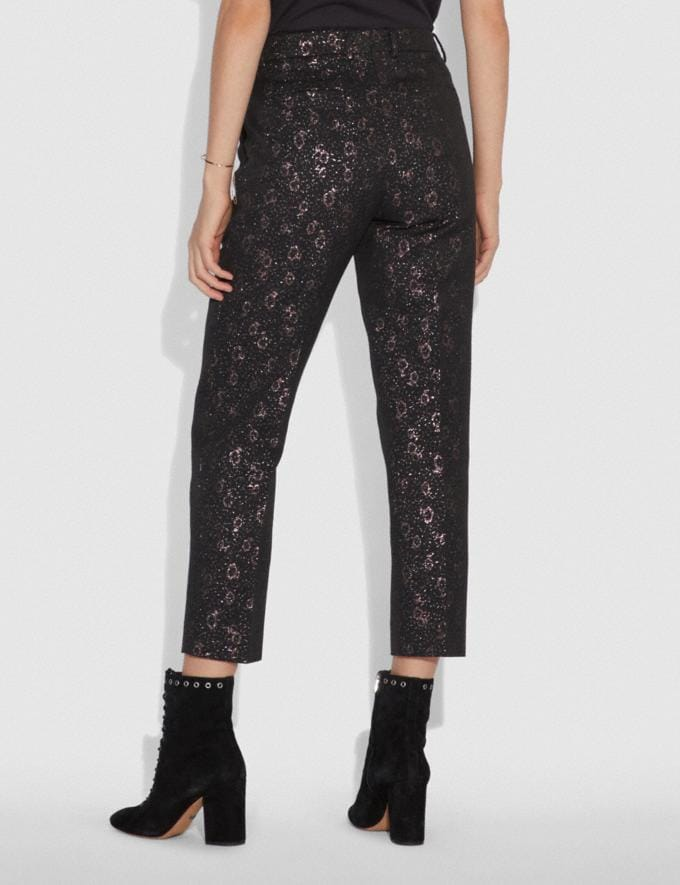 Coach Cropped Tailored Jacquard Pants Pink SALE Women's Sale Ready-to-Wear Alternate View 2