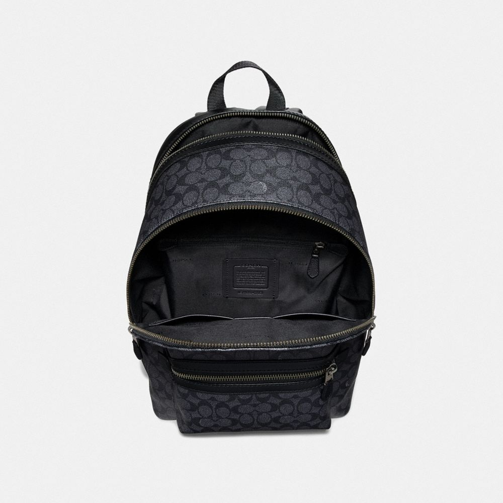 Coach Academy Backpack in Signature Canvas With Rexy Alternate View 2