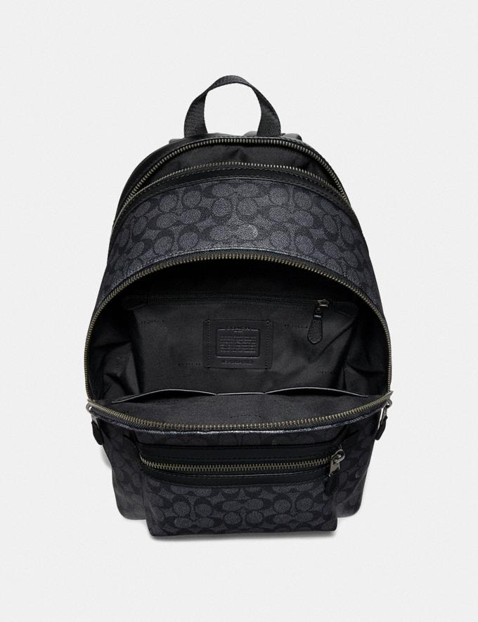 Coach Academy Backpack in Signature Canvas With Rexy Charcoal/Black Copper Men Bags Backpacks Alternate View 2