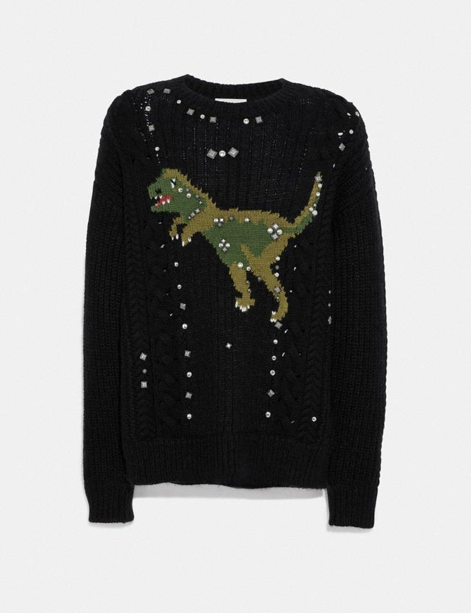 Coach Rexy Cable Knit Sweater Black New Men's New Arrivals View All