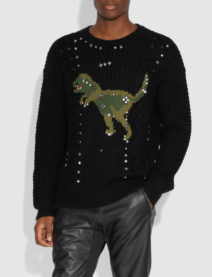 Coach Rexy Cable Knit Sweater Black New Men's New Arrivals View All Alternate View 1