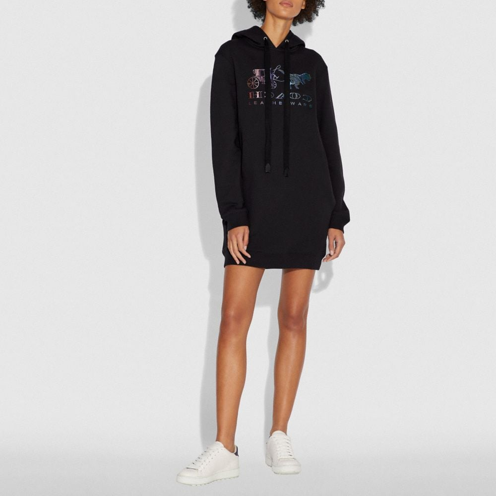 Coach MIRRORED REXY AND CARRIAGE SWEATSHIRT DRESS Alternate View 1
