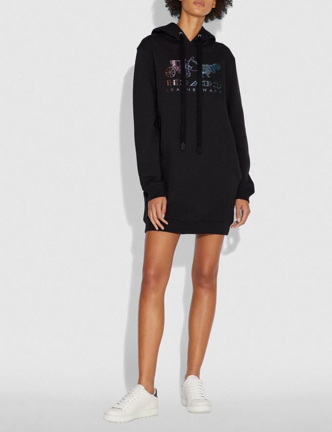 Coach Mirrored Rexy and Carriage Sweatshirt Dress Dark Shadow SALE Women's Sale Ready-to-Wear Alternate View 1