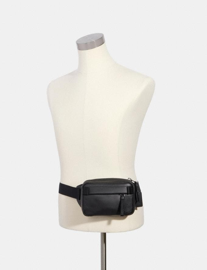 Coach Mini Edge Belt Bag Qb/Black null Alternate View 2