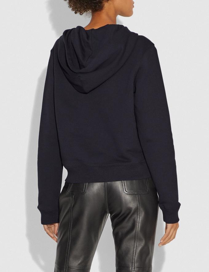 Coach Mirrored Rexy and Carrage Satin Stitch Sweatshirt Dark Shadow SALE Women's Sale Ready-to-Wear Alternate View 2