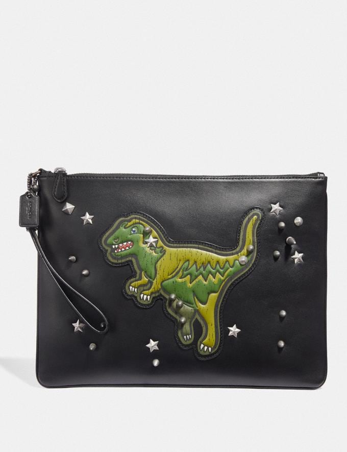 Coach Pouch 30 With Rexy Black Men Accessories Travel