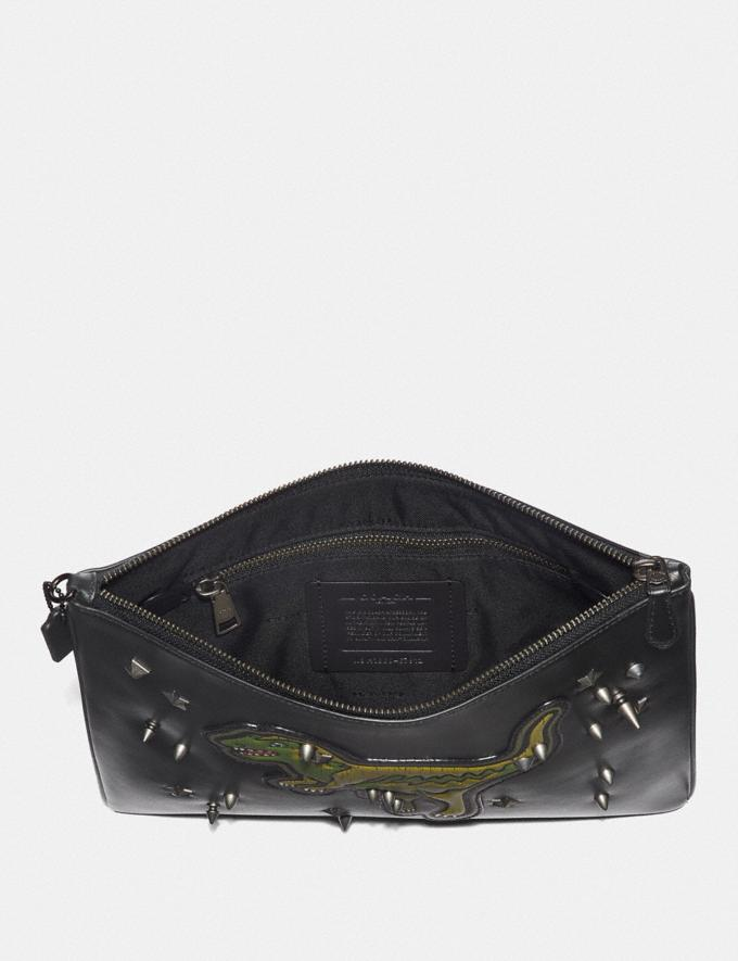 Coach Pouch 30 With Rexy Black Men Accessories Travel Alternate View 1