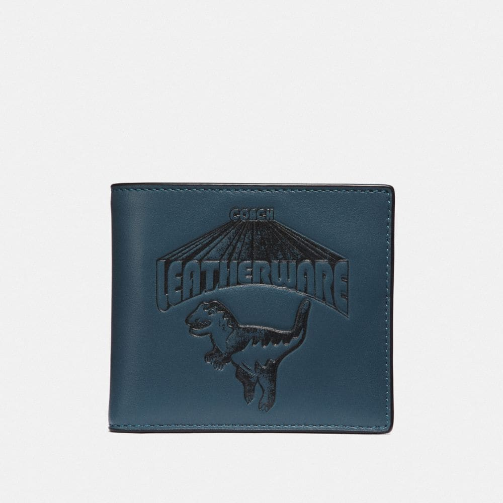 Coach Double Billfold Wallet With Super Rexy