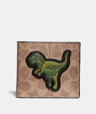DOUBLE BILLFOLD WALLET IN SIGNATURE CANVAS WITH REXY