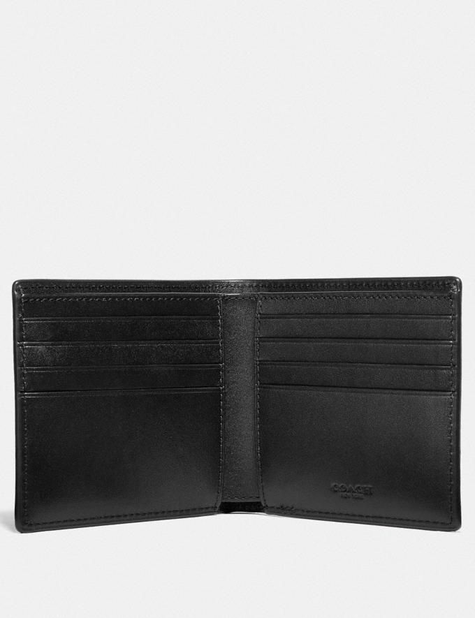 Coach Double Billfold Wallet With Rexy Black Men Wallets Alternate View 1
