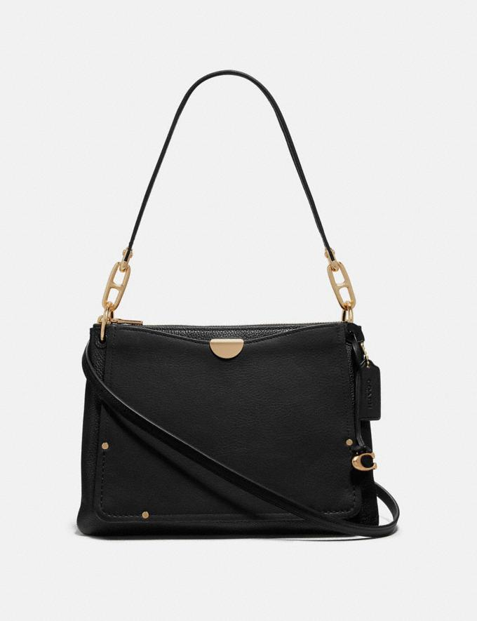 Coach Dreamer Shoulder Bag Black/Gold Women Bags Shoulder Bags