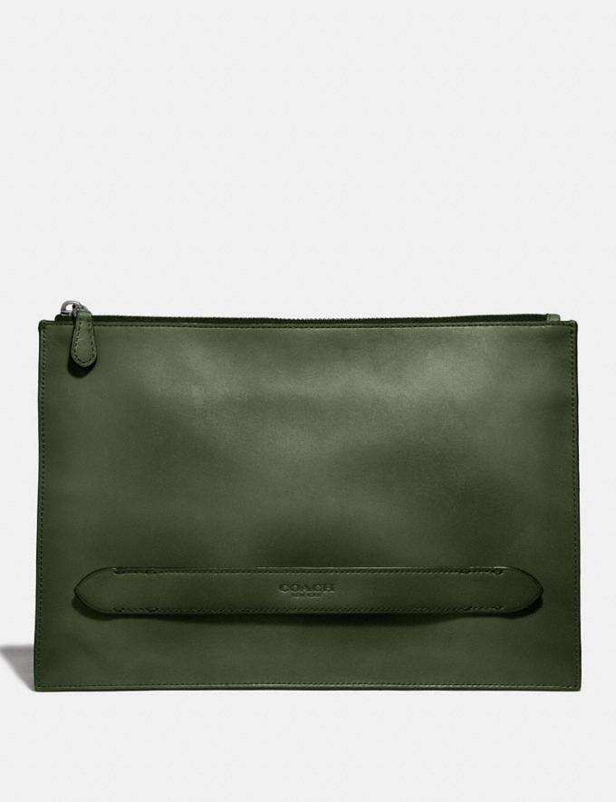 Coach Manhattan Pouch Olive Men Accessories Tech & Travel
