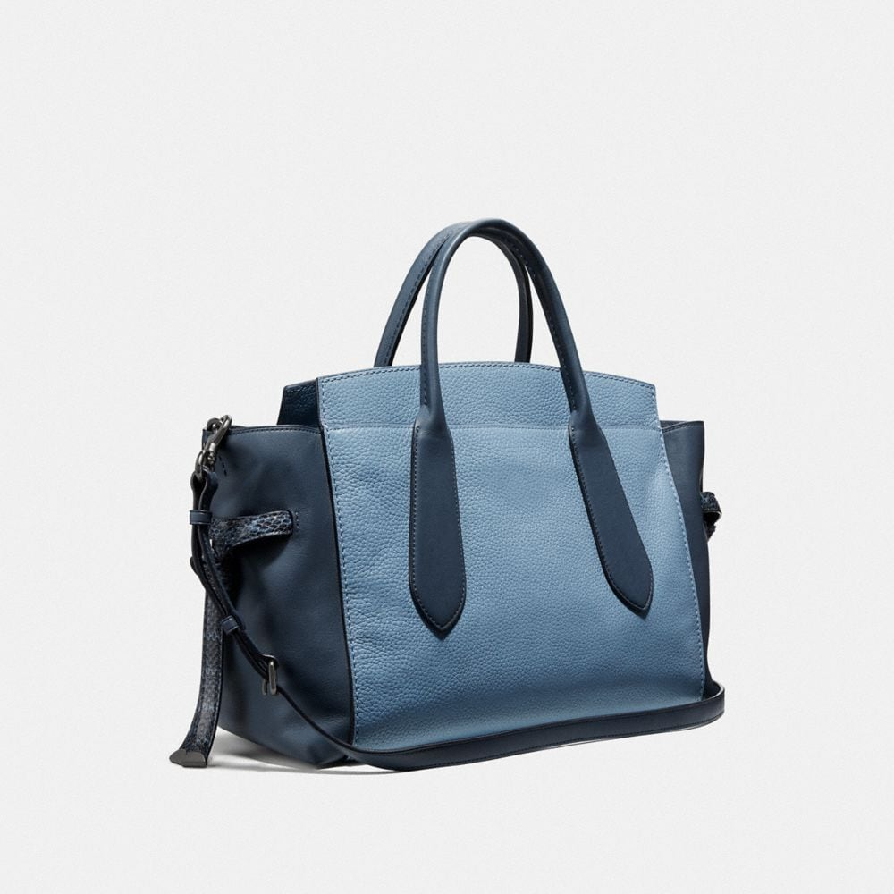 Coach Shadow Carryall in Colorblock With Snakeskin Detail Alternate View 1
