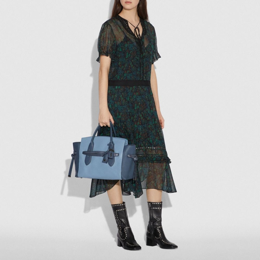 Coach Shadow Carryall in Colorblock With Snakeskin Detail Alternate View 4
