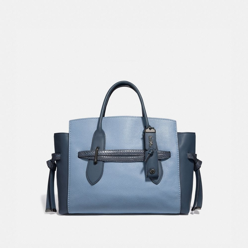 SHADOW CARRYALL IN COLORBLOCK WITH SNAKESKIN DETAIL