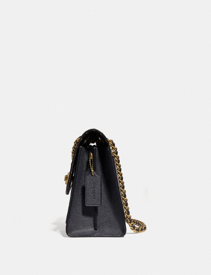 Coach Parker in Signature Leather With Rivets Black/Brass Women Bags Alternate View 1