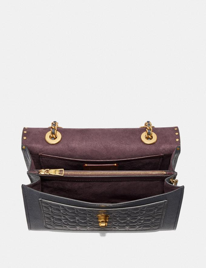 Coach Parker in Signature Leather With Rivets Black/Brass Women Bags Alternate View 3