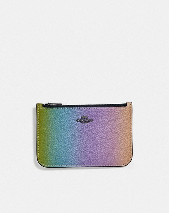 Coach ZIP CARD CASE WITH OMBRE
