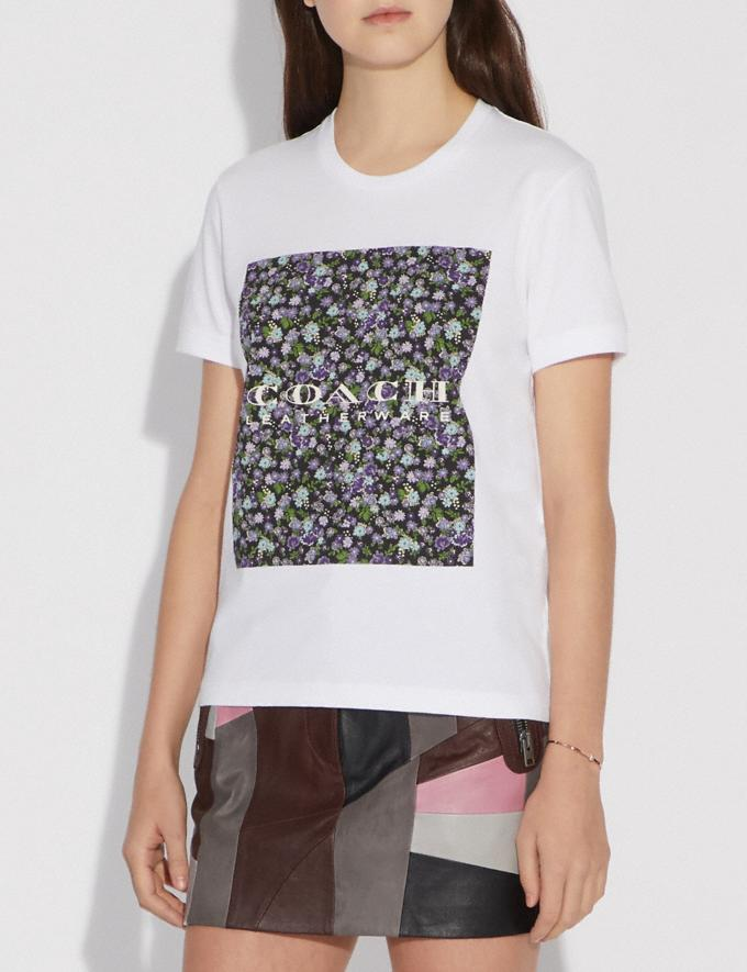 Coach Mother'S Day Floral Print T-Shirt White Women Ready-to-Wear Tops Alternate View 1