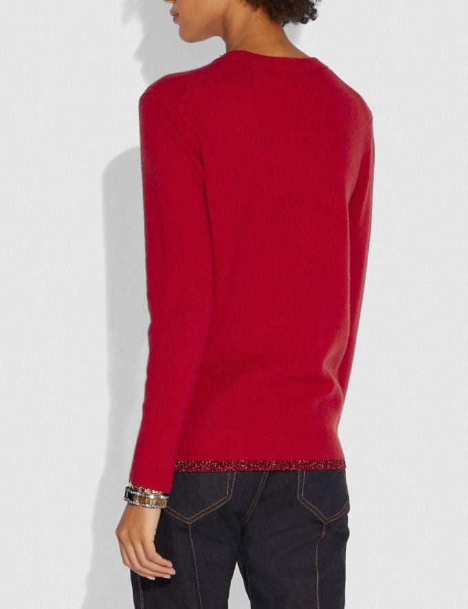 Coach Lunar New Year Sweater Red Women Ready-to-Wear Tops Alternate View 2