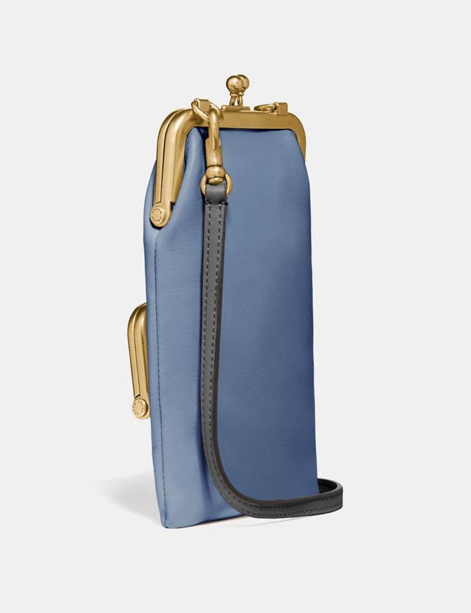 Coach Double Frame Crossbody 12 Chalk/Brass Women Bags Crossbody Bags Alternate View 1
