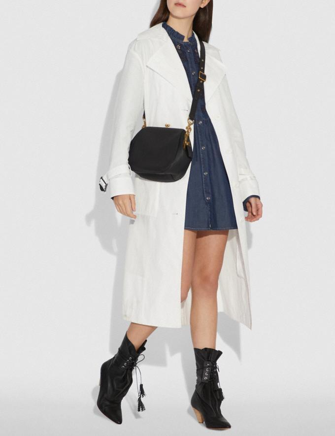 Coach Frame Saddle Bag Black/Brass Women Bags Crossbody Bags Alternate View 1