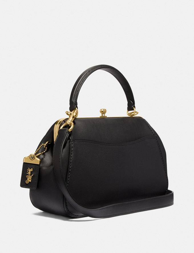 Coach Frame Bag Black/Brass Personalise For Her Alternate View 1