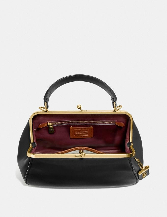 Coach Frame Bag Black/Brass Personalise For Her Alternate View 2