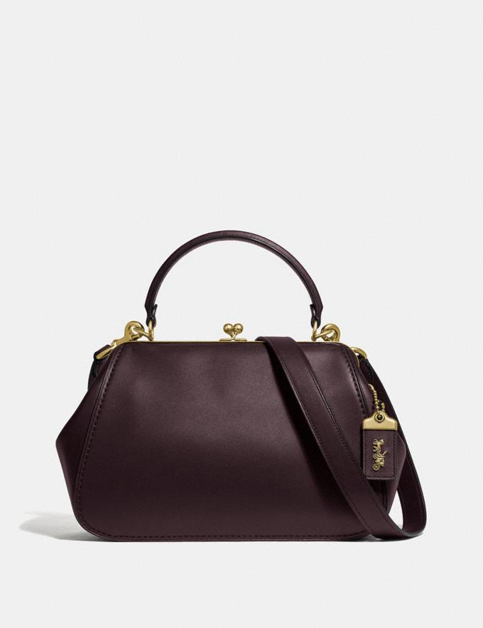 Coach Frame Bag Oxblood/Brass Women Bags Satchels