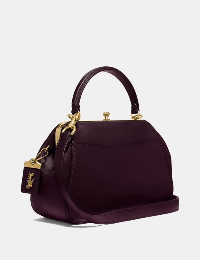 Coach Frame Bag Oxblood/Brass Personalise For Her Alternate View 1