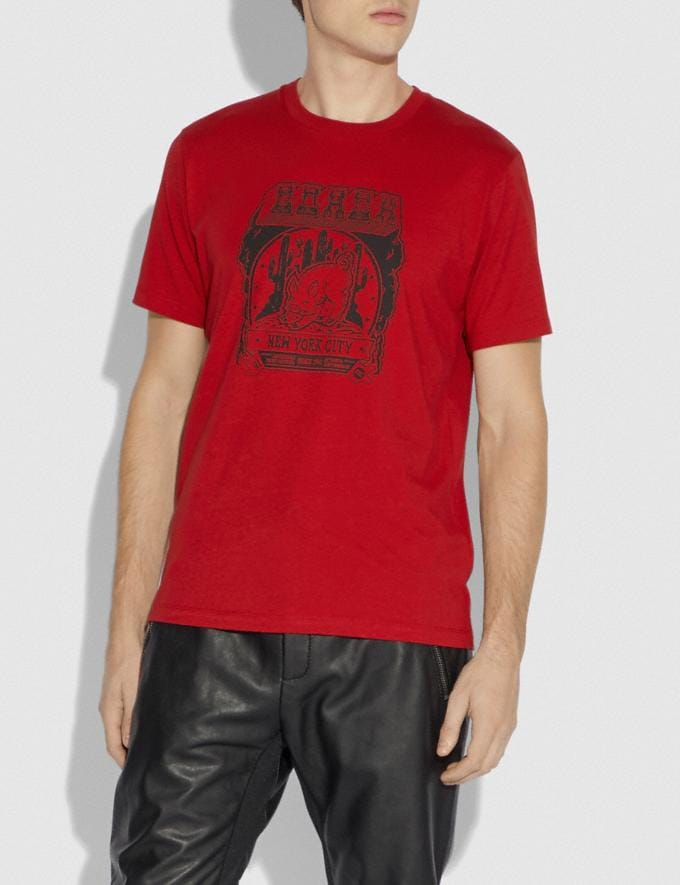 Coach Lunar New Year T-Shirt Red  Alternate View 1