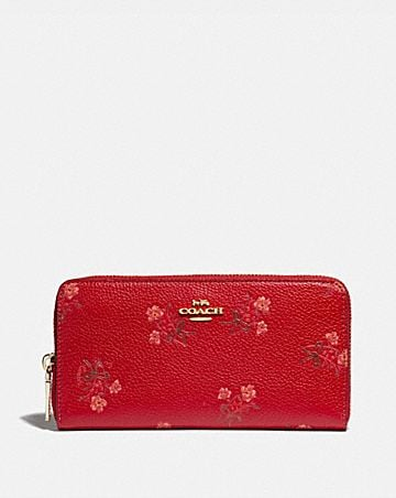 LUNAR NEW YEAR ACCORDION ZIP WALLET WITH FLORAL BOW PRINT ...