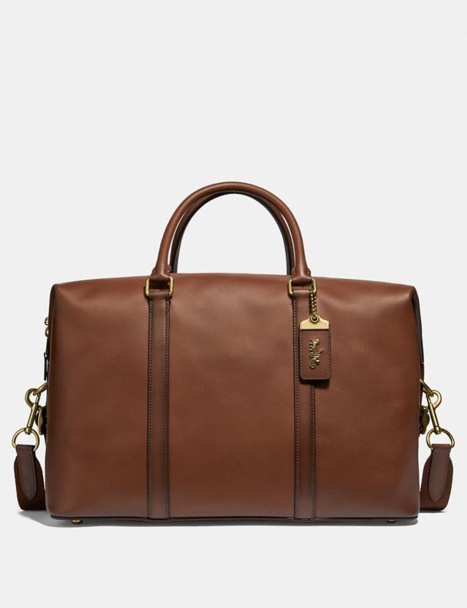 Coach Metropolitan Duffle Saddle/Brass Men Bags Totes & Duffles