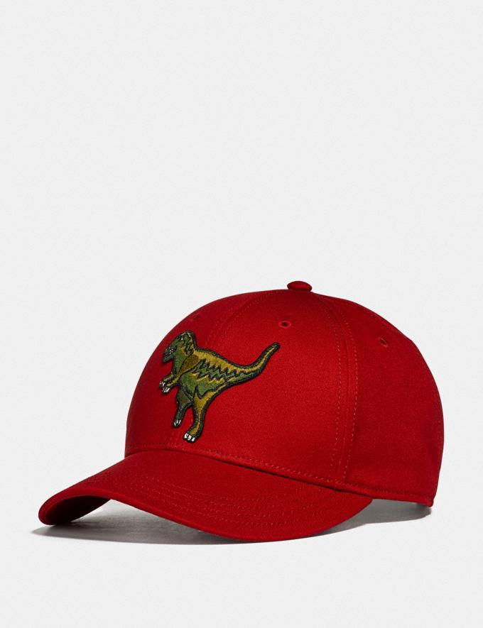 Coach Rexy Baseball Cap Rexy Red New Featured Rexy Collection