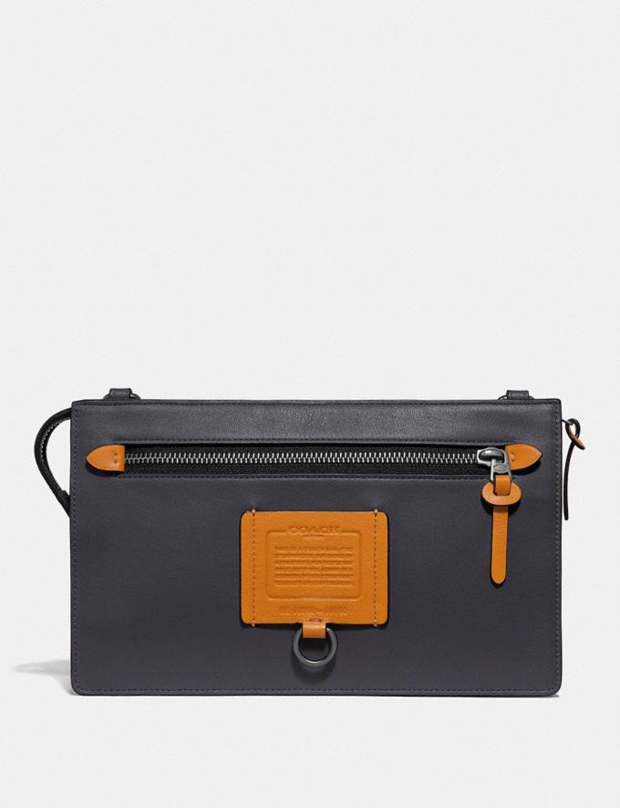 Coach Rivington Convertible Pouch Midnight/Amber Men Accessories