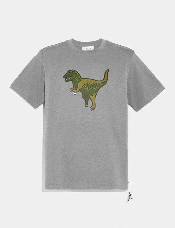 Coach Rexy T-Shirt Heather Grey/Heather Grey Men Ready-to-Wear Tops & Bottoms
