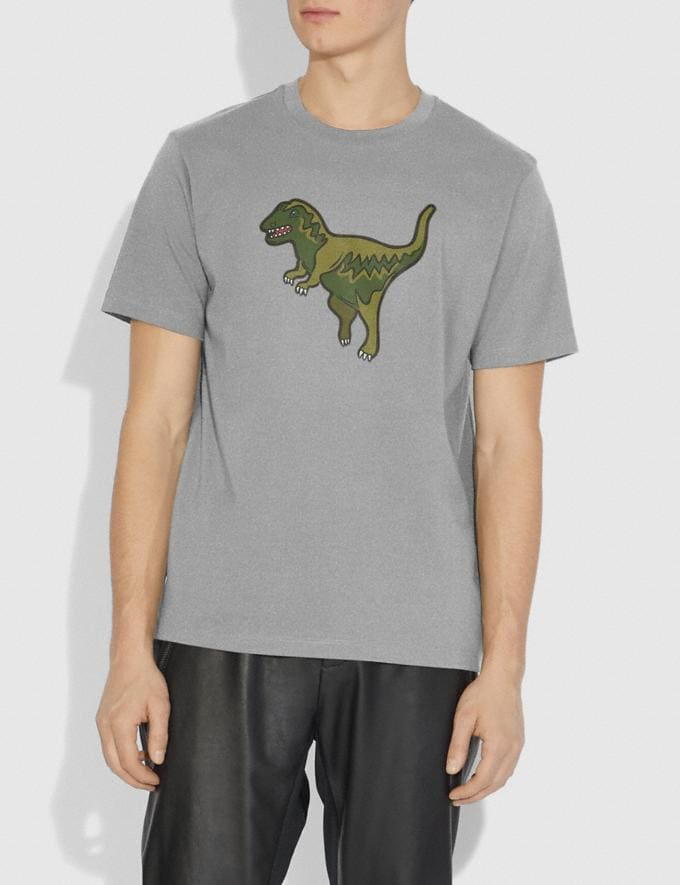Coach Rexy T-Shirt Heather Grey/Heather Grey Men Ready-to-Wear Tops & Bottoms Alternate View 1