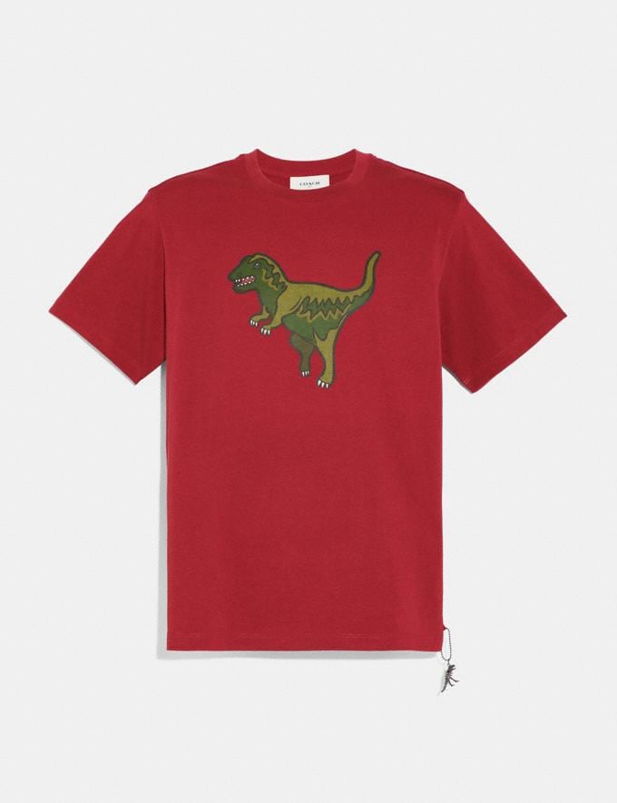 Coach Rexy T-Shirt Rexy Red Men Ready-to-Wear Tops & Bottoms