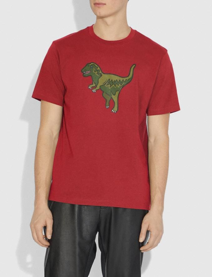 Coach Rexy T-Shirt Rexy Red Men Ready-to-Wear Tops & Bottoms Alternate View 1