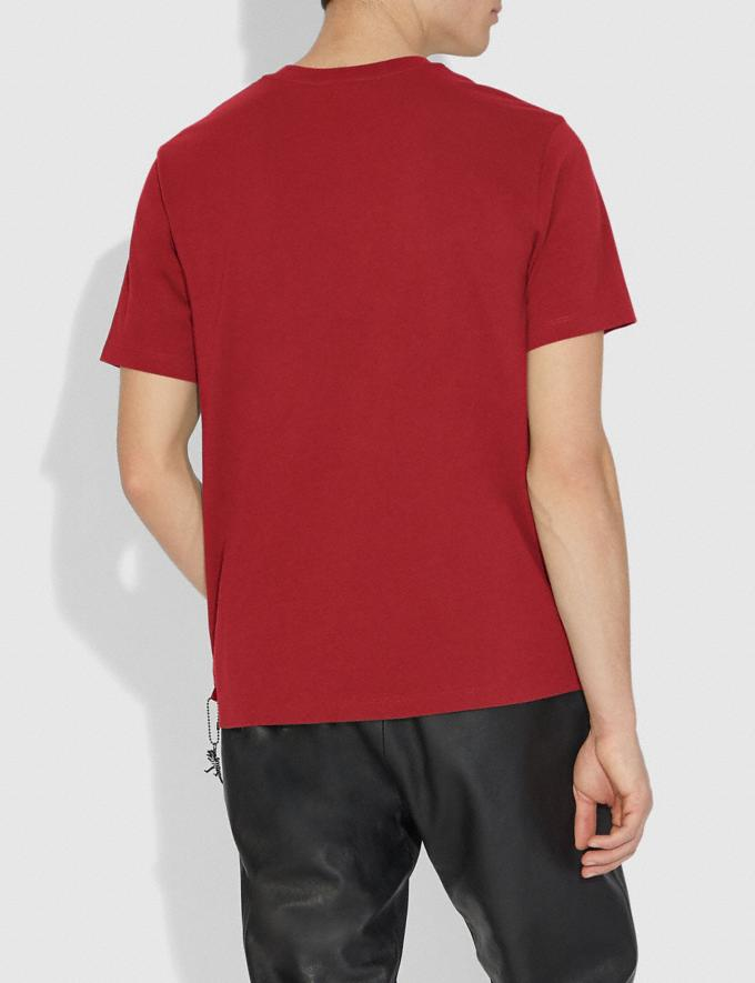 Coach Rexy T-Shirt Rexy Red Men Ready-to-Wear Tops & Bottoms Alternate View 2