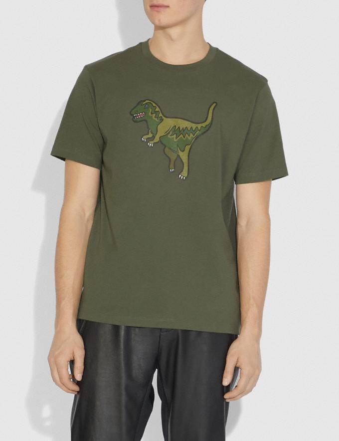 Coach Rexy T-Shirt Rexy Green Men Ready-to-Wear Tops & Bottoms Alternate View 1