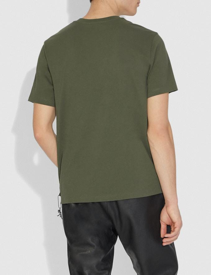 Coach Rexy T-Shirt Rexy Green Men Ready-to-Wear Alternate View 2