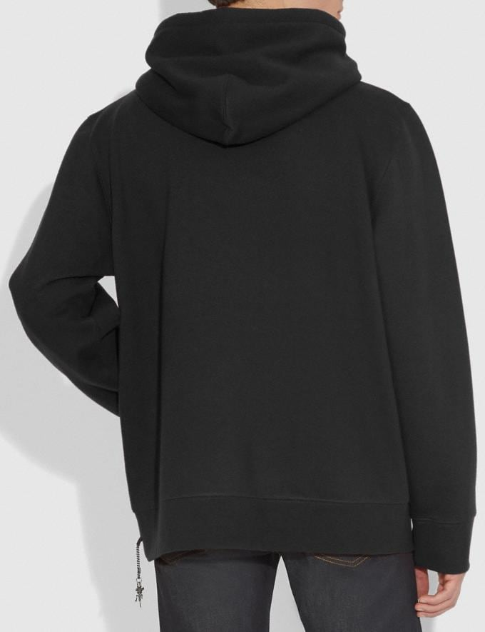 Coach Rexy Hoodie Black Men Ready-to-Wear Clothing Alternate View 2