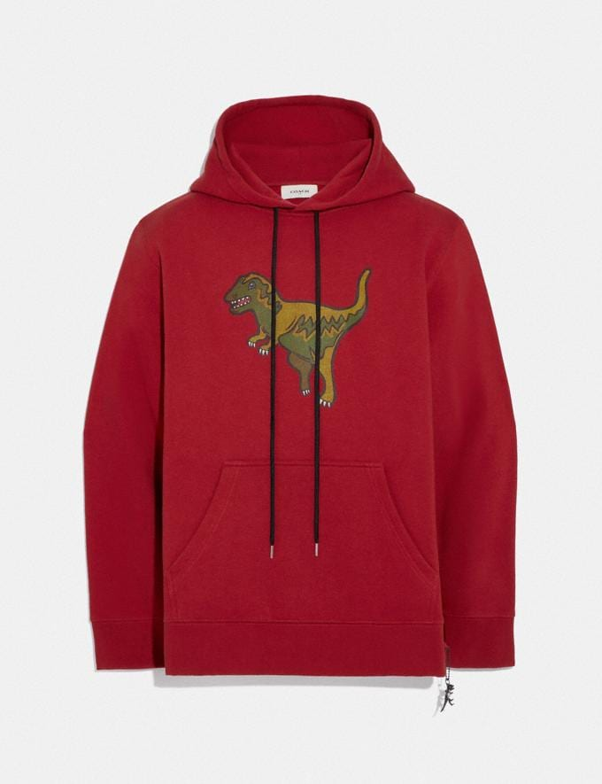 Coach Rexy Hoodie Rexy Red Men Ready-to-Wear Tops & Bottoms