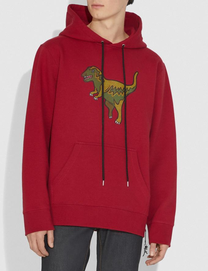 Coach Rexy Hoodie Rexy Red Women Ready-to-Wear Tops Alternate View 1