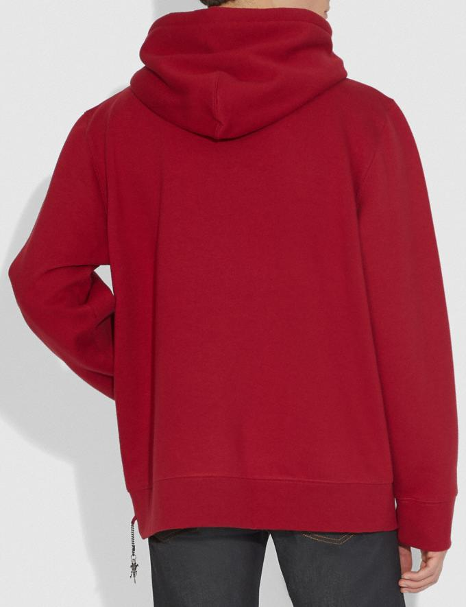 Coach Rexy Hoodie Rexy Red Women Ready-to-Wear Tops Alternate View 2