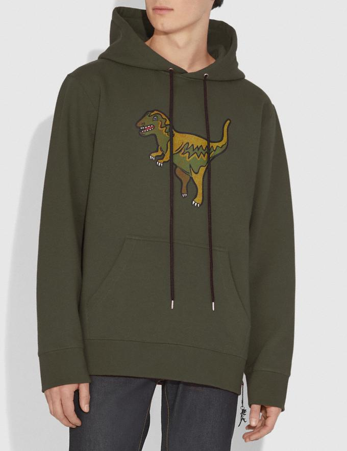 Coach Rexy Hoodie Rexy Green Men Ready-to-Wear Tops & Bottoms Alternate View 1